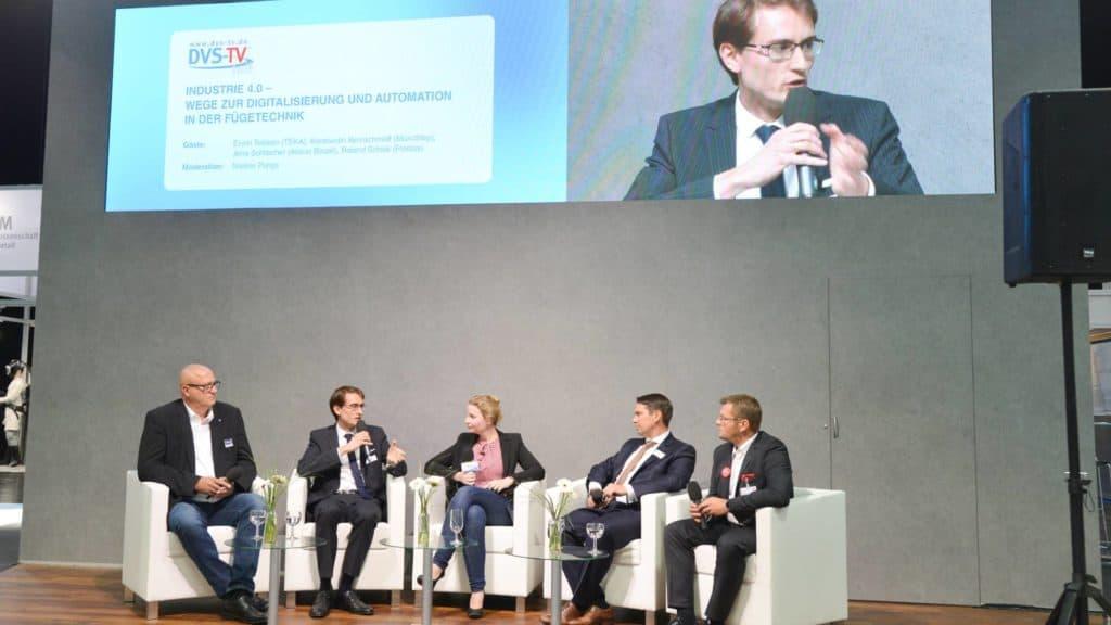 Expertenrunde zum Thema Industrie 4.0 beim DVS-TV Messetalk