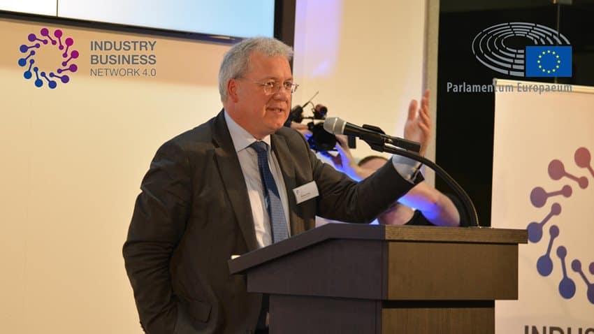 Markus Ferber, Mitglied des Europäischen Parlaments beim Fachkongress Fertigung 4.0 in Bad Wörishofen